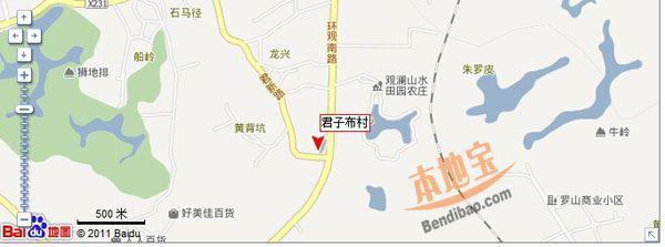 深圳觀瀾上水田園交通地圖