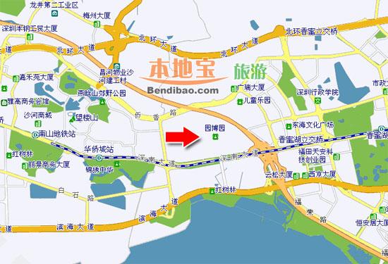 深圳園博園交通地圖