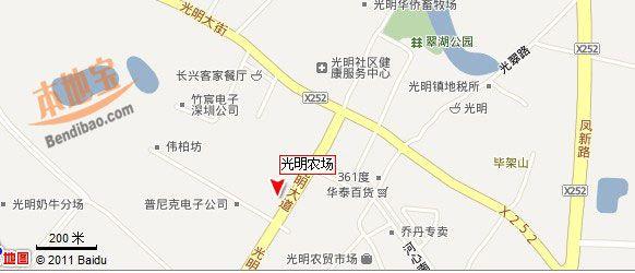 光明農場交通地圖