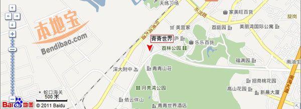 深圳青青世界交通地圖