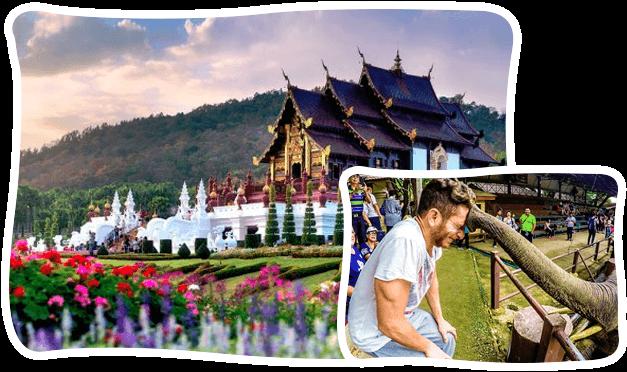 清邁湄登MaeTaeng大象营+蘭花 園一日游